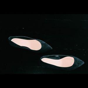 Asos black suede flats